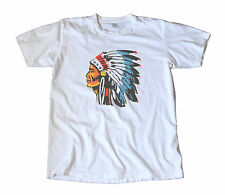 Vintage IMPKO Indian Chief Decal T-Shirt - Hot Rod, Camping, Scouting, Headdress