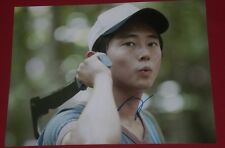 STEVEN YEUN SIGNED WALKING DEAD WHISTLING IN FORREST PHOTO AUTOGRAPH COA