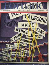 "FORTUNE June 1936 Beatrice NE, 1930s Philadelphia, PA RR, ""Queen Mary"" US Steel"