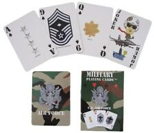 New US AIRFORCE PLAYING CARDS Pack - Plastic American Military Camouflage Game