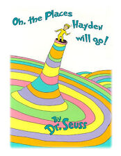 Dr. Seuss Oh the Places You'll Go baby shower edible cake image frosting sheet