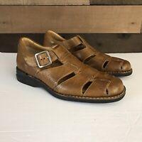 Johnston & Murphy Mens Size 8m Fisherman Sandals Sheepskin Leather Dress Shoes