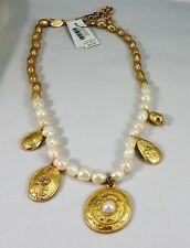 Chico's Levi White Stone (faux pearl)Short Pendant Necklace NWT