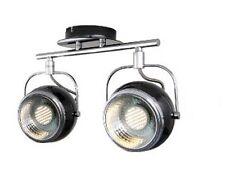 Retro Decken Lampe 2-flg 230 Volt Sockel GU10 für LED oder Halo. schwarz .#938