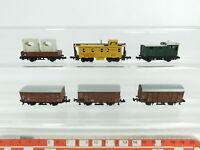 BD451-0,5# 6x Minitrix Spur N/DC Güterwagen: DB+DRG+US/USA UPRR, 2. Wahl