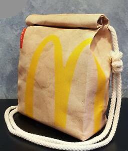 McDonalds Style Handbag - Waterproof Small Bag - Recycled Polyester - Funny Gift