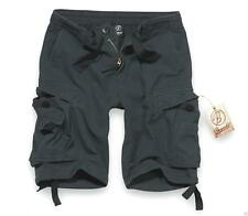 """BRANDIT VINTAGE KNEE LENGTH SHORTS IN BLACK SIZE SMALL 30"""" WAIST ARMY  MILITARY"""