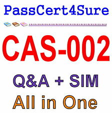 CompTIA Advanced Security Practitioner (CASP) CAS-002 Exam Q&A PDF+SIM