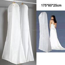 HANGING WEDDING BRIDAL PROM DRESS GARMENT GOWN Dustproof COVER SUIT ZIP BAG