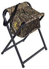 Extra Wide Seat Foldable Hunting Stool - w/ Insulated Cooler Bag Shoulder Strap