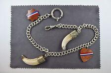 antike Taschenuhrkette mit 4 Abhängungen Jugendstil um 1900