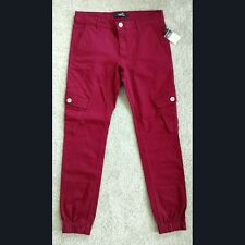 NWT Red Cargo Jogger Pants Size 3/4