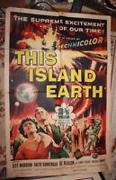 This Island Earth 1955 One Sheet Original Movie Poster  Universal Pictures