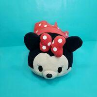 "Disney Store Minnie Mouse Tsum Tsum Plush Large 12"" Stuffed Animal  Red bow"