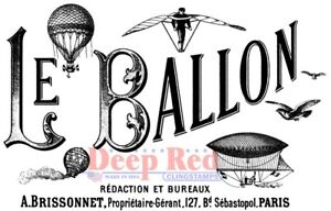 Deep Red Stamps Le Ballon Rubber Cling Stamp