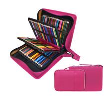 200 + 16 Slots Pencil Case & Extra Pencil Sleeve Holder - Bundle for Prismacolor