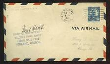 Frank Hawks: 1931 autograph on an aviation event cover