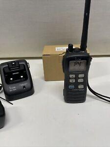 ICOM IC-M71 Transceiver Handheld Marine VHF Radio & Desktop Charger 240v BC-166