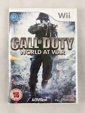 Nintendo Wii Call of Duty: World At War (2008), New & Factory Sealed, Flawed