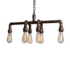 Pendant Vintage Industrial Vintage 6 Heads Water Iron Pipe Ceiling Light Fixtur%