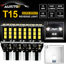 4X Auxito Canbus T15 921 W16W Led Backup Reverse Light Bulbs Bright White 6000K(Fits: Neon)