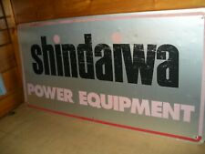 Vintage Metal Shindaiwa Power Equipment Sign Double Sided 48 By 24