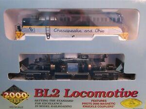 Life Life PROTO 2000 #30193, BL2 82 Chesapeake & Ohio (C&O) Standard DC Loco NS