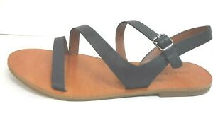 Lucky Brand Size 9 Black Leather Sandals New Womens Shoes