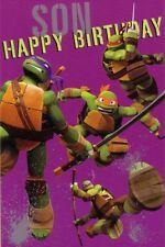 Son Birthday Card - Teenage Mutant Ninja Turtles