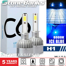8000K H1 LED Headlight Bulbs Kit High Beam Fog Light BLUE 100W 20000LM Headlamp