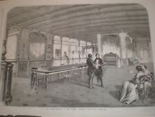 Grand Saloon of the SS Great Eastern ship 1859 print AU