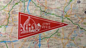 1960's Style Lyme Regis Dorset Holiday Pennant  Classic Car Window Sticker