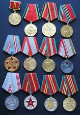 original Soviet Russian USSR  lot #111 of 12 medals Russia Stalin Lenin Red Army