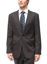 New Carlo Lusso Men 44R 38W Grey Charcoal 2 button Slim Fit Jacket Pants Suit
