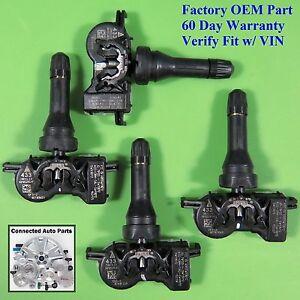 Set of 4 Chrysler Dodge Jeep TIRE PRESSURE SENSOR TPMS OEM 68105280AF SET-TS47