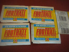 5 Sealed Packs Of 1990 Orbis Football Stickers NEW & SEALED 6 Stickers A Pack
