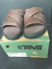 Men's TEVA Slidewalk NUBUK Brown LEATHER SANDAL SIZE 8 NEW in box retail $100