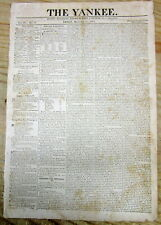 1815 newspaper with complete PRESIDENT JAMES MADISON State of the Union Address