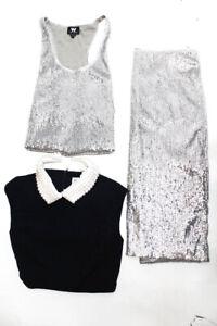 W by Worth Eliza J Womens Faux Pearl Dress Sequin Skirt Set Size 2 10 Lot 3