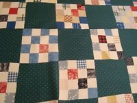 "One Yd RALPH LAUREN Cheater Quilt FABRIC Patchwork DRAPERY 56"" x 36"" BTY"