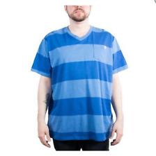 Men's PUMA Striped V-Neck Pocket T-Shirt - Palace Blue size XXL (T32) $25