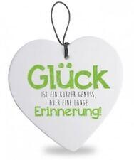 """Formano Herz hängend 15 cm """"Glück""""  749208"""