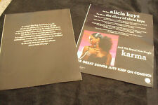 "Alicia Keys 2003 two ads for hit ""The Diary of Alicia Keys"" and ""Karma"""