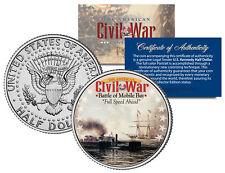 American Civil War BATTLE OF MOBILE BAY JFK Kennedy Half Dollar U.S. Coin