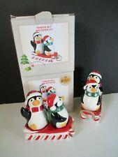Penguin Salt & Pepper Set With Sled Exclusively At Cracker Barrel 2 Sets