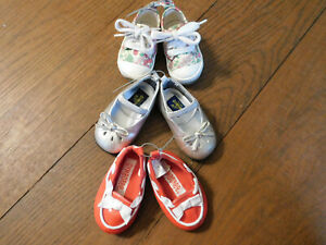 Lot Oshkosh Toddler Baby Mary Jane Pewter Gymboree Red Loafers & Floral sneakers