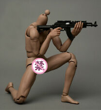 US 1/6 Scale Military Male Flexible Action Figure Muscle Doll With Accessories