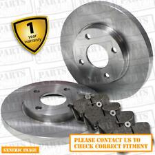 Front Brake Pads + Brake Discs Full Axle Set 290mm Solid Fits Fits Suzuki Jimny