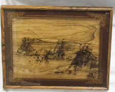 Western Round-Up-Cowboys/Roping/Cattle Silhouette Picture-20.5 X 16.5 X 1 1/8