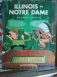 1968 NOTRE DAME Football Game Program -V- ILLINOIS